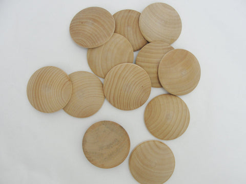 "2"" domed wood disc, 2 inch domed disk, domed circle 5/16"" thick unfinished DIY set of 12 - Wood parts - Craft Supply House"