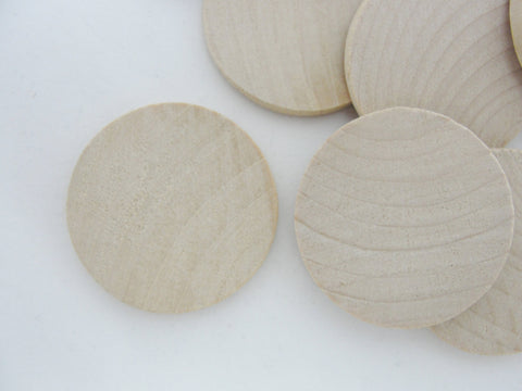 "Wooden Circle, 1 1/2"" wooden disc, wooden disk 1.5"" x 1/8"" thick unfinished DIY - Wood parts - Craft Supply House"