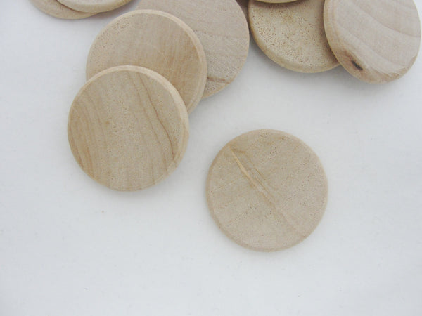 "Wooden 1"" x 1/8"" thick wood disc rounded edges - Wood parts - Craft Supply House"