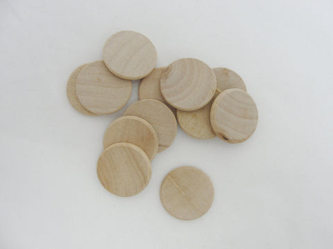 "round edge 1"" wooden Circles, 1"" x 1/8"" thick wood disc unfinished DIY - Wood parts - Craft Supply House"