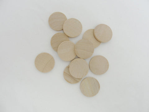 "wooden Circle, 1 inch wood disk, 1"" wood disc 1/8"" thick unfinished DIY - Wood parts - Craft Supply House"