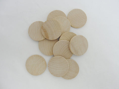 "wooden Circle, 1.25 inch wooden disc, wood disk 1 1/4"" x 1/8"" thick unfinished DIY - Wood parts - Craft Supply House"