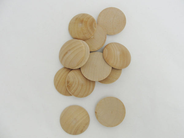"Wooden domed disc Circles 1 1/2"" wide x 5/16"" thick set of 12 - Wood parts - Craft Supply House"