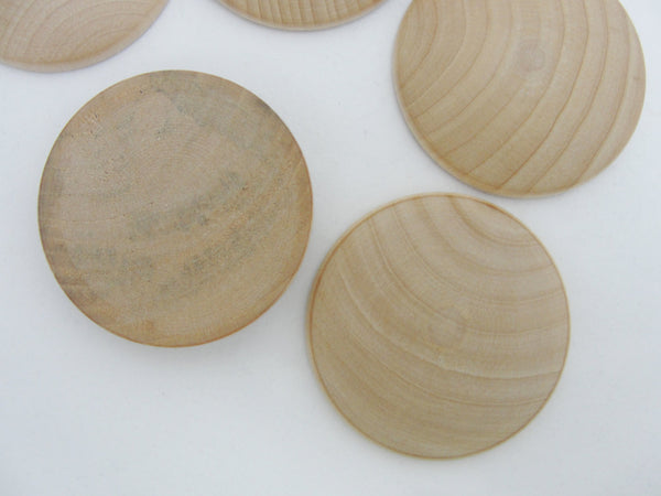 "Domed wood disc 2"" wide x 5/16"" thick set of 12 - Wood parts - Craft Supply House"