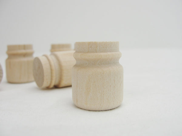 "Miniature wooden mason jar 1"" set of 6 - Wood parts - Craft Supply House"
