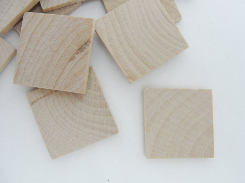 "Wooden square tiles 1 inch (1"") square 1/8"" thick - Wood parts - Craft Supply House"