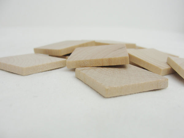 "Wooden square tiles 1 inch (1"") square 1/8"" thick set of 12 - Wood parts - Craft Supply House"