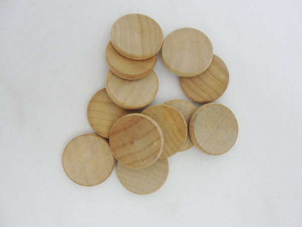 "Wooden Circles discs .75""  (3/4"") x 1/8"" thick - Wood parts - Craft Supply House"