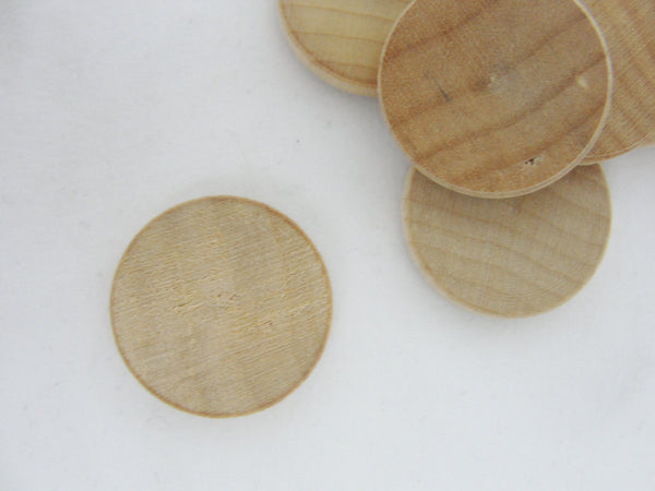 "wooden Circles, wooden discs, .75 inch wood disk,  .75""  (3/4"") wood disk 1/8"" thick unfinished DIY - Wood parts - Craft Supply House"