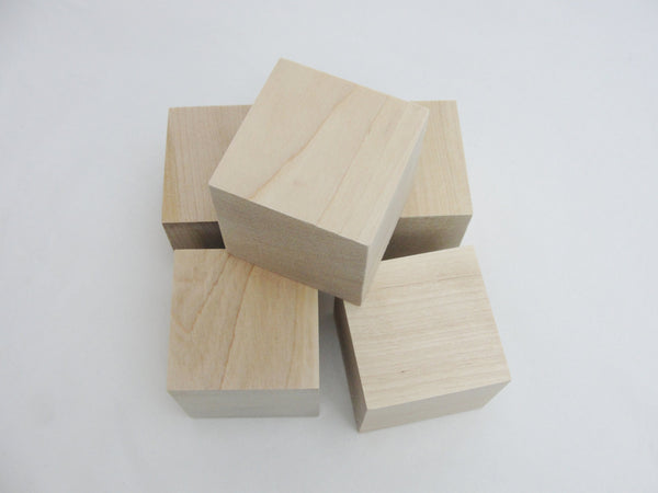 "2 1/2 inch wooden cube, 2.5"" wooden block, unfinished.  Choose your quantity - Wood parts - Craft Supply House"