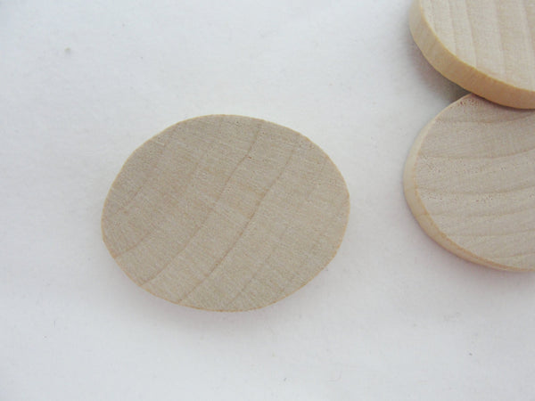 "Small oval wooden disc 1 1/4 inch x 1 inch (1 1/4"" x 1"") set of 12 - Wood parts - Craft Supply House"