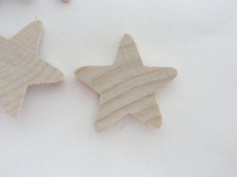 "6 Traditional wooden stars 1 inch (1"") 1/8"" thick unfinished DIY - Wood parts - Craft Supply House"