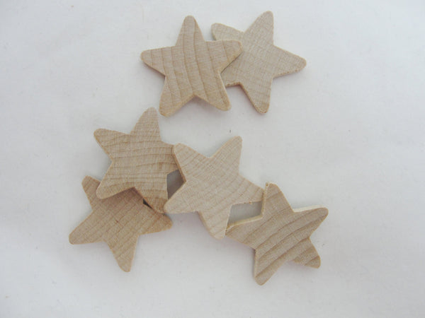 "Traditional wooden stars 1 inch (1"") 1/8"" thick set of 6 - Wood parts - Craft Supply House"