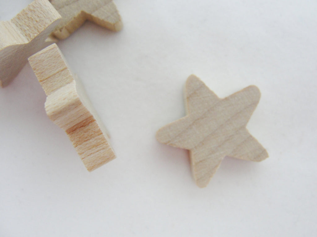 "Traditional wooden star 3/4 inch (3/4"", .75"") set of 12 - Wood parts - Craft Supply House"