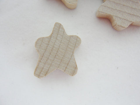 "12 Tiny Primitive wood star 5/8"" wide and 3/4"" tall unfinished DIY - Wood parts - Craft Supply House"