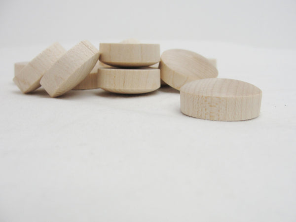 "1"" round head birch Button plug set of 12 - Wood parts - Craft Supply House"