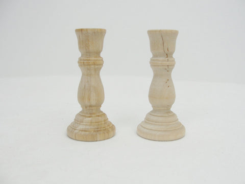 3 inch candlestick holders, set of 2 - Wood parts - Craft Supply House