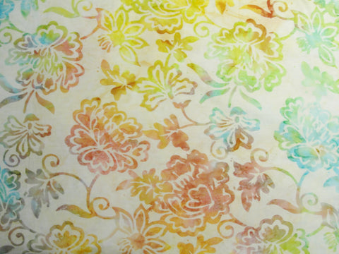 Batik Tonga Sorbet fabric yardage, batik fabric, floral fabric, quilt fabric - Fabric - Craft Supply House