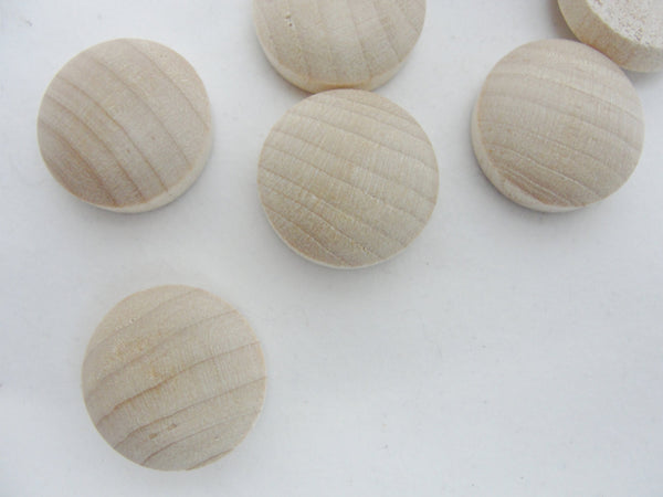 "3/4"" birch round head Button plug, .75 inch set of 12 - Wood parts - Craft Supply House"