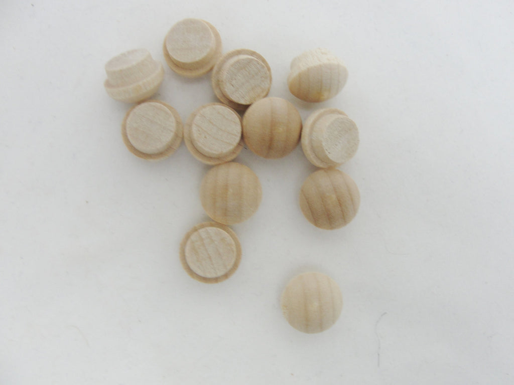 "Small button plug, miniature button plug, 3/8"" button plug set of 12 - Wood parts - Craft Supply House"