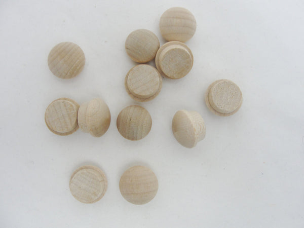 "Small button plug, miniature button plug, 1/2"" button plug set of 12 - Wood parts - Craft Supply House"
