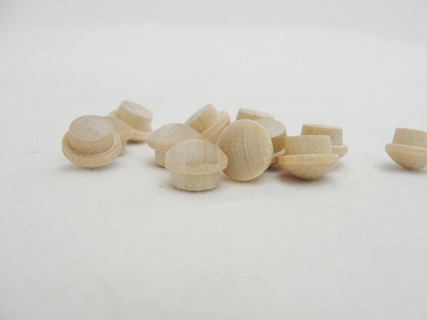 "Tiny mushroom button plug 1/4"" set of 12 - Wood parts - Craft Supply House"