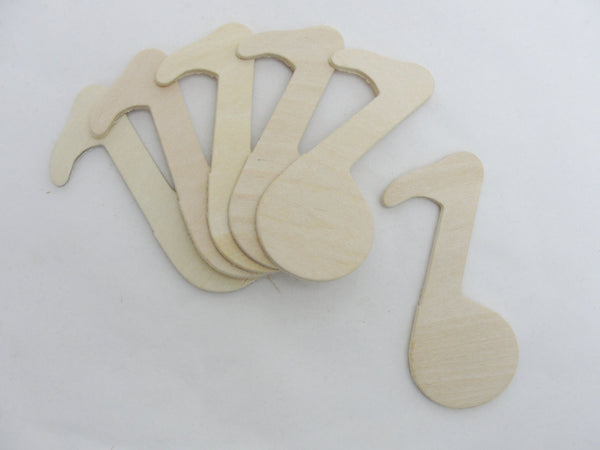 Music note ornament set of 6 - Wood parts - Craft Supply House
