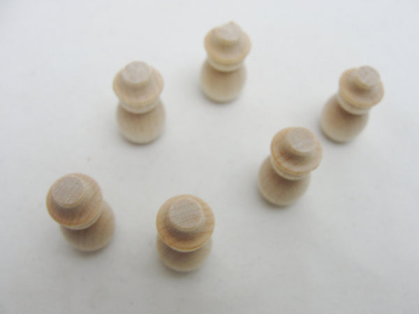 Micro mini snowman, dollhouse snowmen set of 6 - Wood parts - Craft Supply House