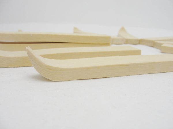 Miniature 5 inch wooden skis 5 pairs (10 individual skis) - Wood parts - Craft Supply House