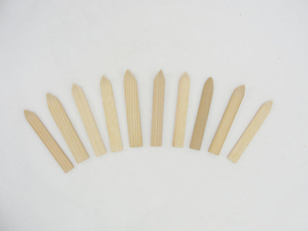 "Tiny wooden skis 3 1/2"" long 5 pairs - Wood parts - Craft Supply House"
