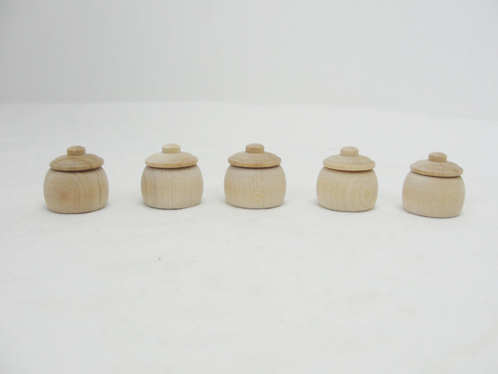 unfinished dollhouse furniture. 5 Miniature Bean Pots, Honey Dollhouse Accessories - Wood Parts Craft Unfinished Furniture