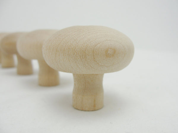 Small wooden mushroom set of 5 - Wood parts - Craft Supply House