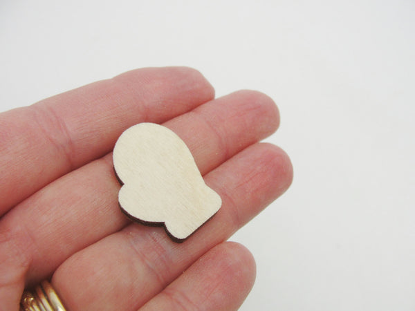 "Miniature Mittens wood cutout 1"" set of 5 - Wood parts - Craft Supply House"