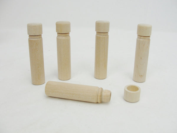 SECONDS Wooden needle case set of 5 - Wood parts - Craft Supply House