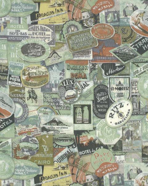 Tim Holtz Multi Travel Labels fabric yardage - Fabric - Craft Supply House
