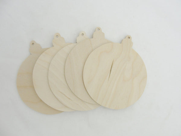 "Round ornament cutout 3 1/2"" set of 5 - Wood parts - Craft Supply House"