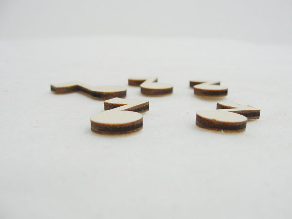 Mini wooden music note, DIY set of 5 - Wood parts - Craft Supply House