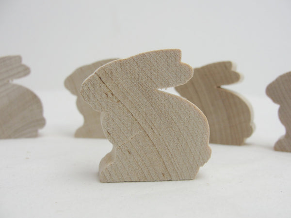"Wooden bunny rabbit cutout 1.5"" tall unfinished diy set of 5"
