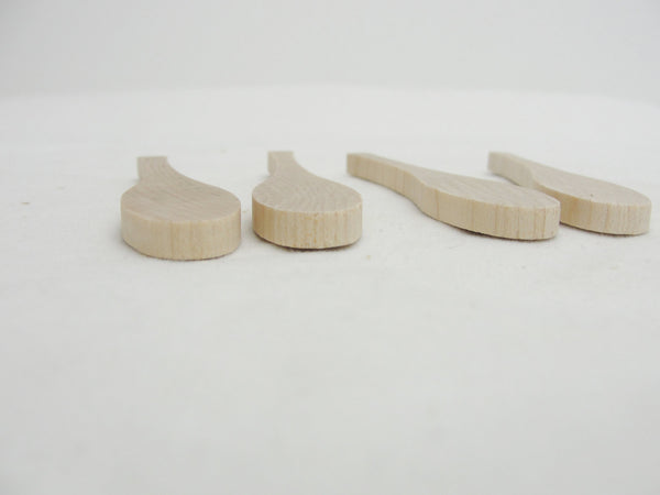 Mini paddle, mini oar, set of 4 - Wood parts - Craft Supply House