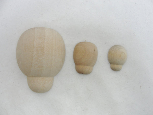 "Large wooden Ladybug 1 7/8"" long diy set of 6 - Wood parts - Craft Supply House"