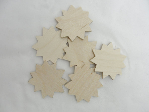 "2"" Sunflower wood cutout set of 6 - Wood parts - Craft Supply House"