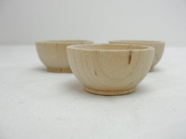 "1 1/2"" Miniature wooden bowl, small ring cup set of 3 - Wood parts - Craft Supply House"