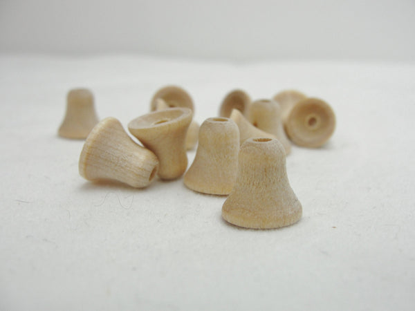 Miniature bell bead set of 12 - Wood parts - Craft Supply House