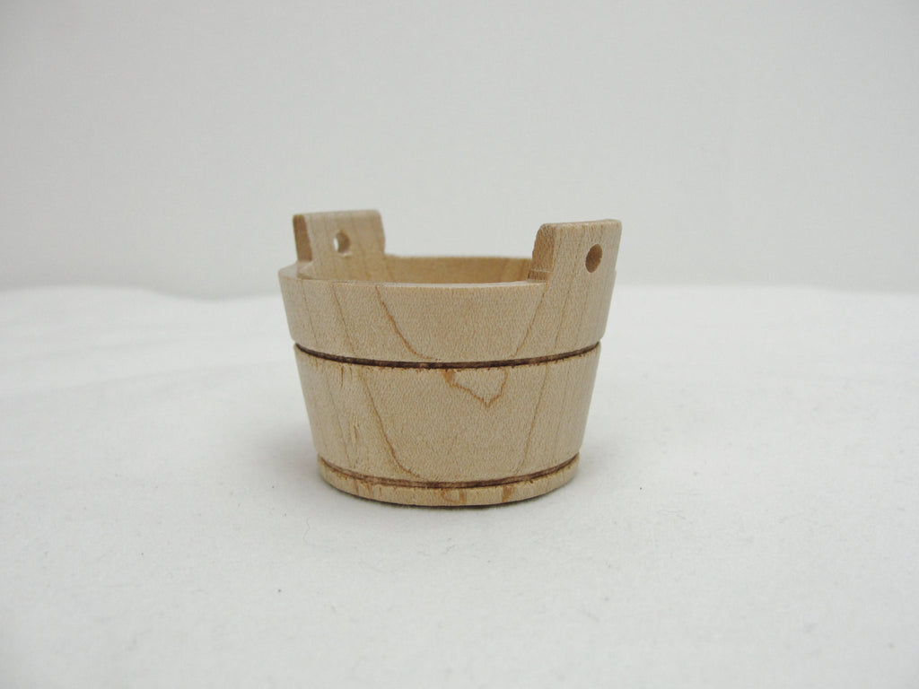 Wooden miniature washtub, small wooden wash tub, dollhouse wash tub