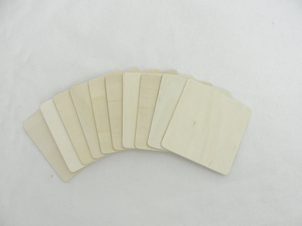 "3"" Wooden squares, large wood squares, set of 10 - Wood parts - Craft Supply House"