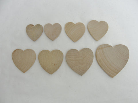 Wood heart sampler pack - Wood parts - Craft Supply House