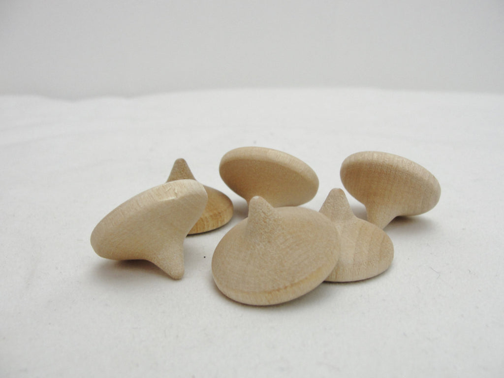 Small wooden chocolate chip set of 6 - Wood parts - Craft Supply House