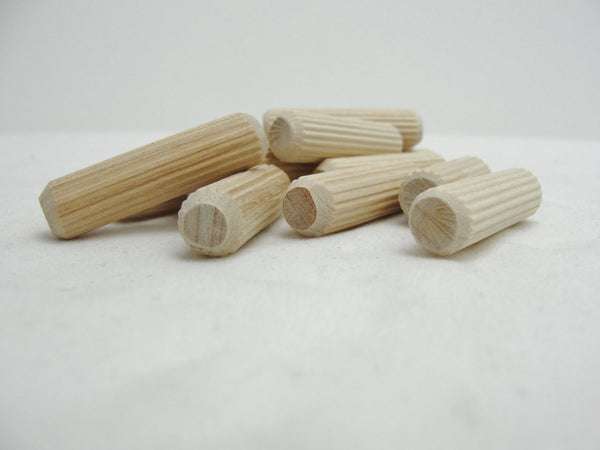 Ribbed furniture dowel pin set of 12 - Wood parts - Craft Supply House