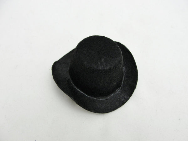 Miniature black cowboy or top hat fits a large peg person - General Crafts - Craft Supply House