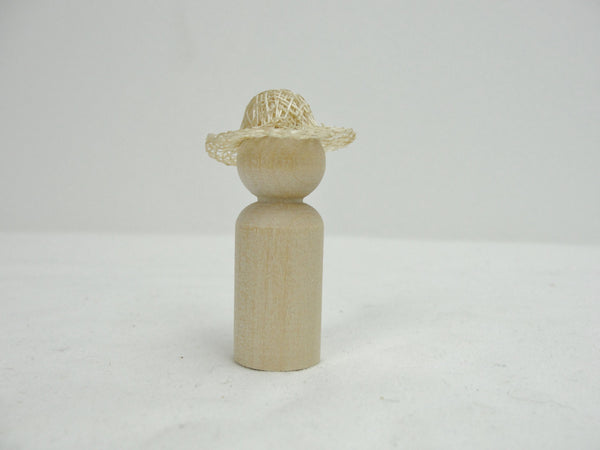 "Miniature sinamay straw hat 1 1/8"" - General Crafts - Craft Supply House"